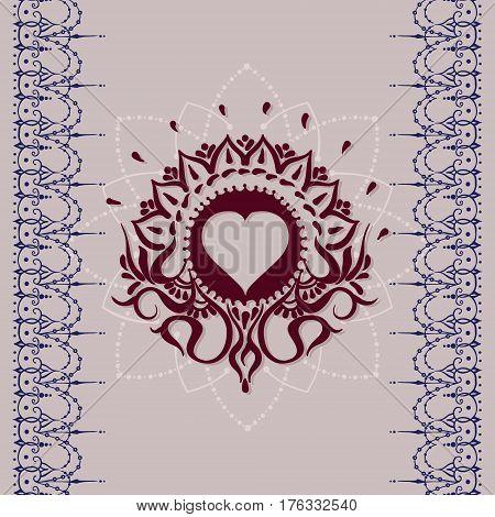 Sketch Of Tattoo Henna Heart