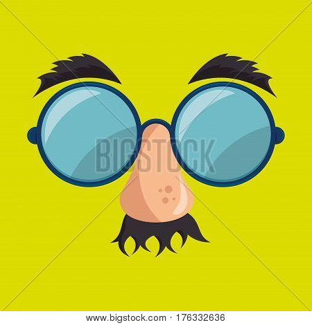 idiot mask crazy icon vector illustration design