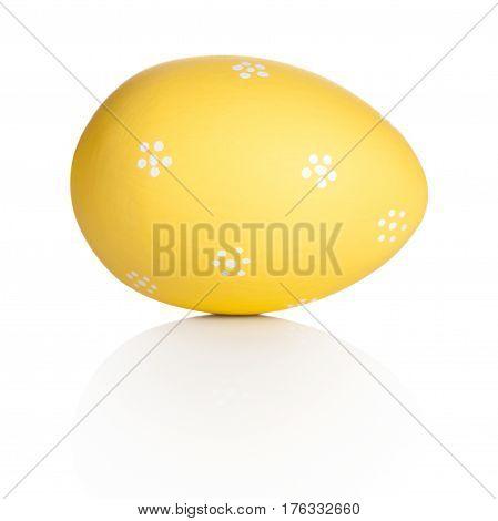 Easter handpaint egg isolated on white background
