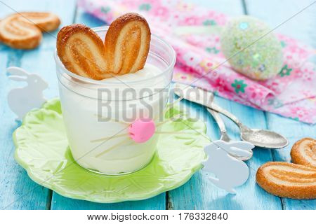 Bunny ears mousse for Easter funny idea for an Easter brunch