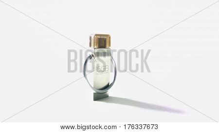 A Usb otg flashdrive with white backgroung