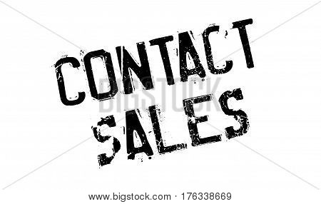 Contact Sales rubber stamp. Grunge design with dust scratches. Effects can be easily removed for a clean, crisp look. Color is easily changed.