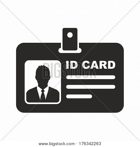 ID card. Vector icon isolated on white background.