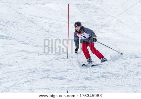 Afonso Fernandes During The Ski National Championships