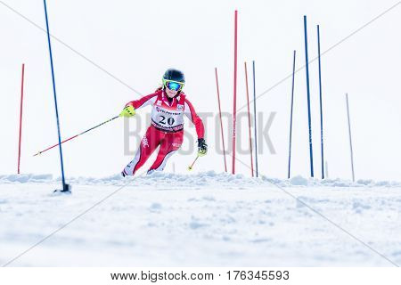 Marta Carvalho During The Ski National Championships
