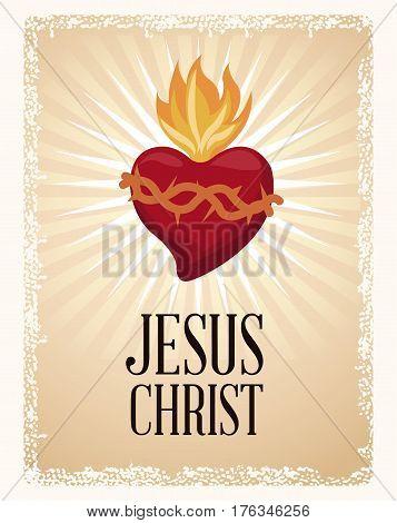 sacred heart blessed spirit vector illustration eps 10