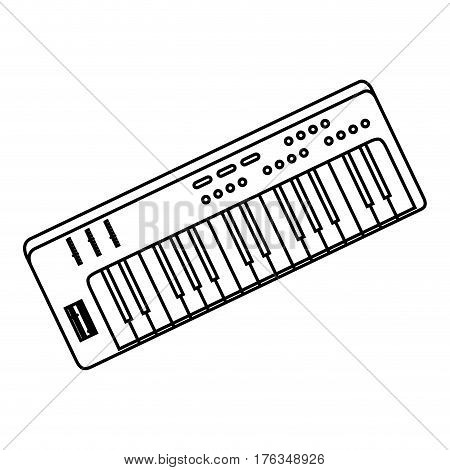 synthesizer audio device icon vector illustration design