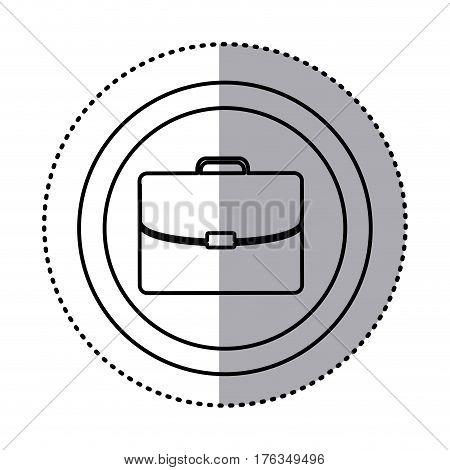 fugure suitcase icon image, vector illustration design