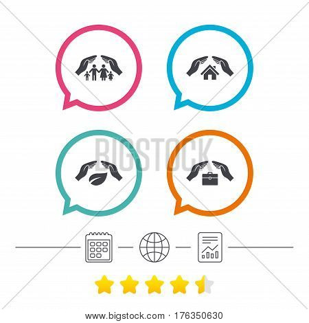 Hands Insurance Icons Vector Photo Free Trial Bigstock