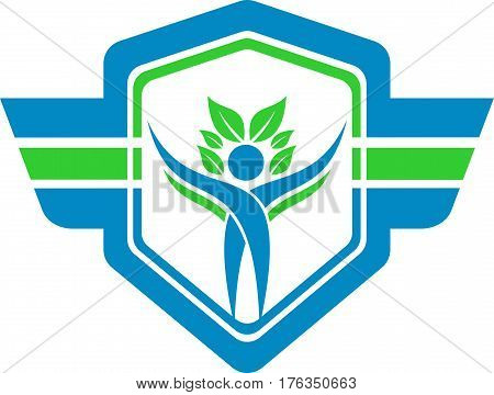 logo illustration wing protection human resources nature