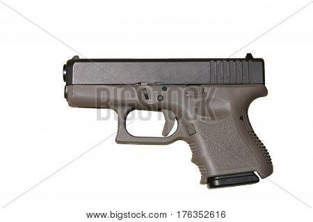 Image of a handgun on white background