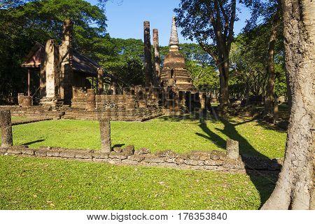 Wat Nang Phaya temple in Sisatchanalai Historical Park Sukhothai Thailand