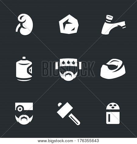 Kidney, stone, water tap, water bottle, patient, pot, doctor, hammer, salt.