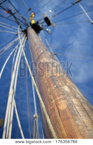 Tall ships, Erie, PA mast and nautical ropes, antique fleet, Historic War of 1812