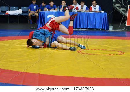 Orenburg, Russia - 29 October 2016: Boys Competitions Sambo