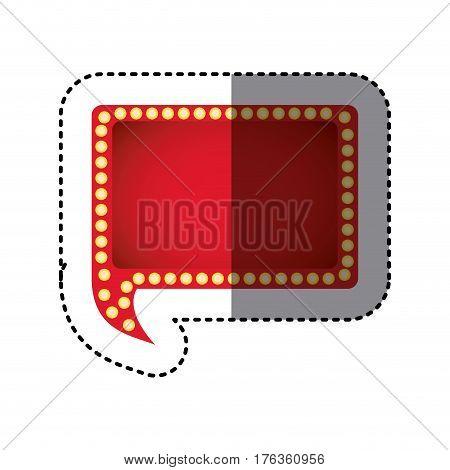 color rectangle chat bubble icon, vector illustration design image