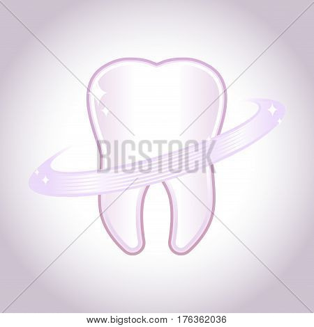 Vector stock of clean strong healthy tooth symbol