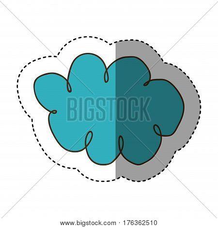 color clound network service icon, vector illustration design