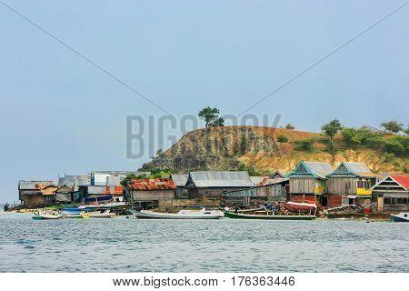 Typical Village On Small Island In Komodo National Park, Nusa Tenggara, Indonesia