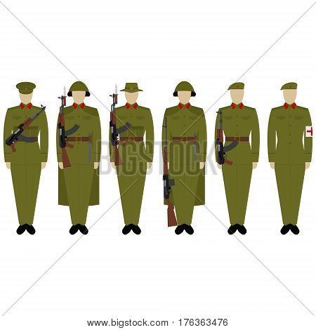 Military Uniforms Vietnamese army. The illustration on a white background.