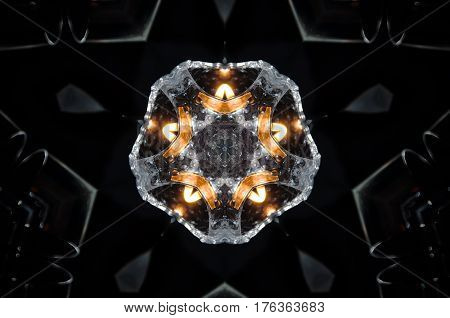Abstract Candle And Fire Mandala