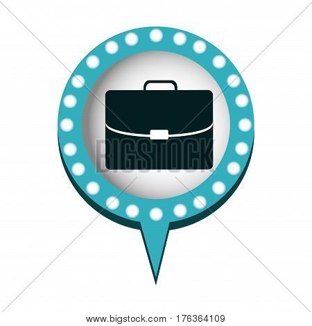 chat bubble with suitcase inside, vector illustration design