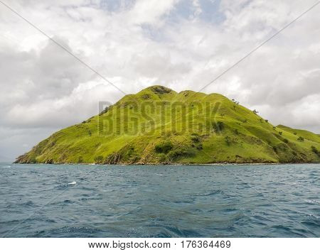 Volcanic Island In Komodo Naional Park, Flores Sea, Nusa Tenggara, Indonesia