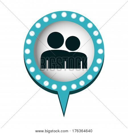chat bubble with people inside, vector illustration design