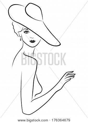 Young Lady Posing In Hat
