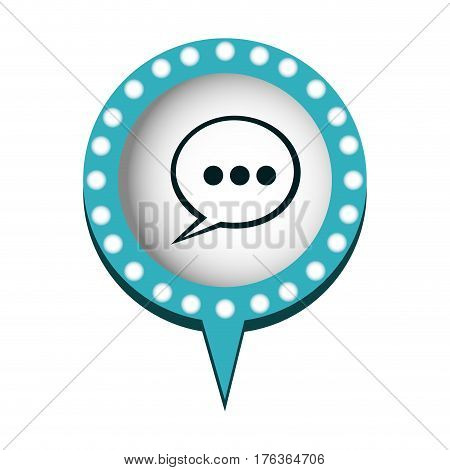 chat bubble dialogue icon, vector illustration design