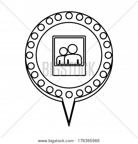 figure chat bubble with picture inside, vector illustration