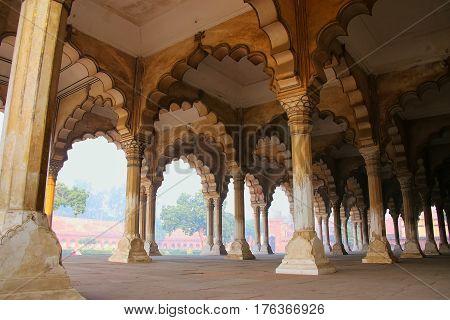 Diwan-i-am - Hall Of Public Audience In Agra Fort, Uttar Pradesh, India