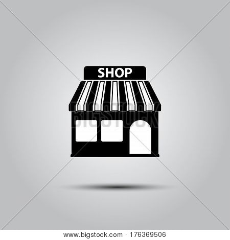 Store icon, modern flat design on a white background