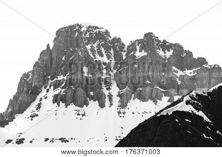 Snowcapped Mountain Peak At Glacier National Park