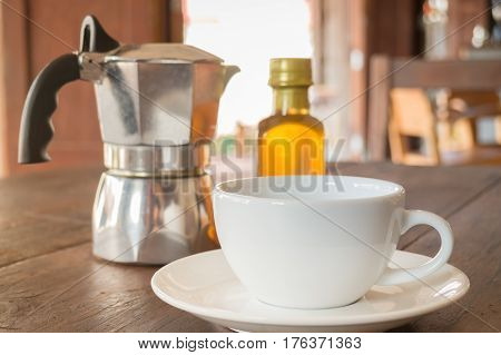 Homemade Hot Cup Of Coffee stock photo