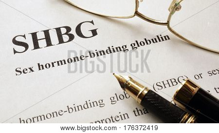Document with title Sex hormone-binding globulin (SHBG).