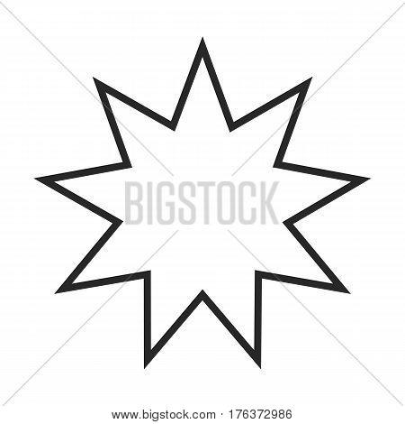 Bahai Symbol Vector Icon