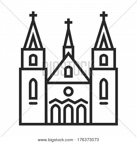 Catholic Church Vector Icon