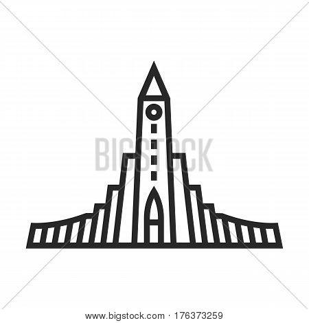 Hallgrimskirkja Lutheran Church Vector Icon