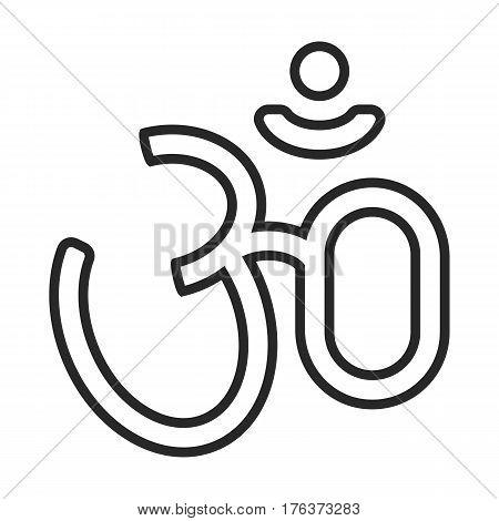 Hindu Symbol Vector Icon