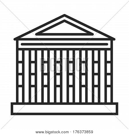 Roman Temple Vector Icon