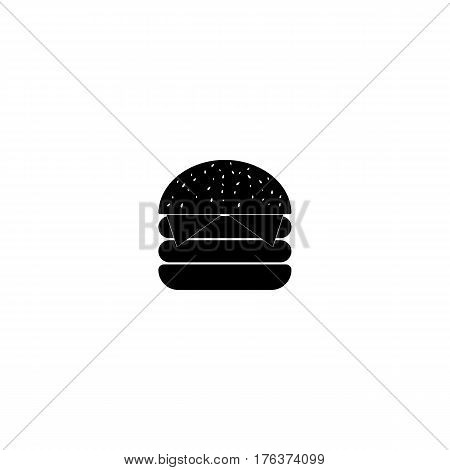 Symbol of hamburger or cheeseburger, on white background