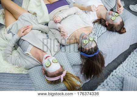Young Women With Facial Masks
