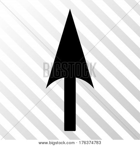 Arrow Axis Y vector icon. Illustration style is a flat iconic black symbol on a transparent background.