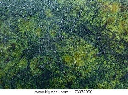 Close Up Of Green Stone As Background