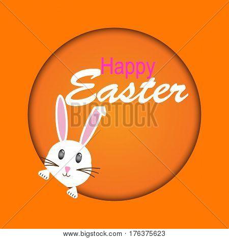 Easter bunnies rabbit greeting card. Easter bunnies. Vector illustration