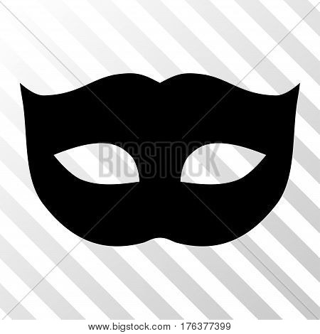 Privacy Mask vector pictograph. Illustration style is a flat iconic black symbol on a transparent background.