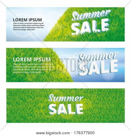 Sale summer green grass texture. Summer sale pattern background. Grass texture background. Grass seamless pattern vector for Banners, logo, web, card, vip exclusive certificate, gift luxury voucher.