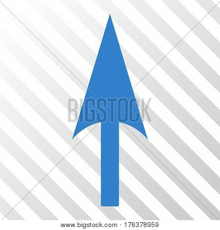 Arrow Axis Y vector pictogram. Illustration style is a flat iconic cobalt symbol on a transparent background.