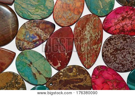 Colorful Stones Close Up As Background